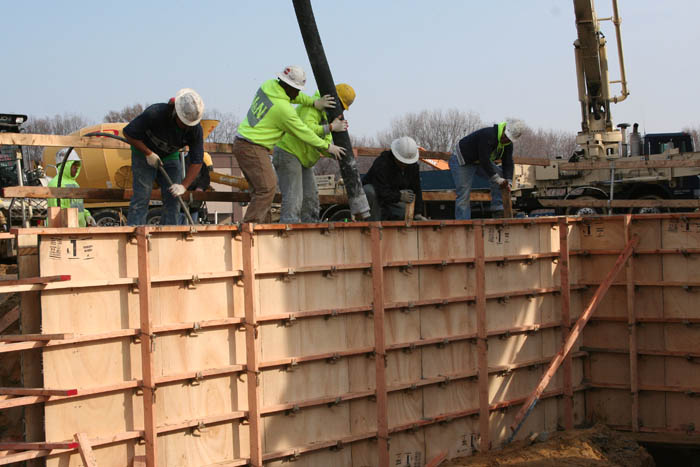 cast in place concrete pour schaefer