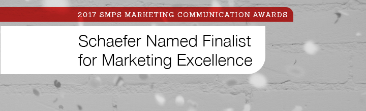 Schaefer Named Finalist in SMPS Marketing Communication Awards