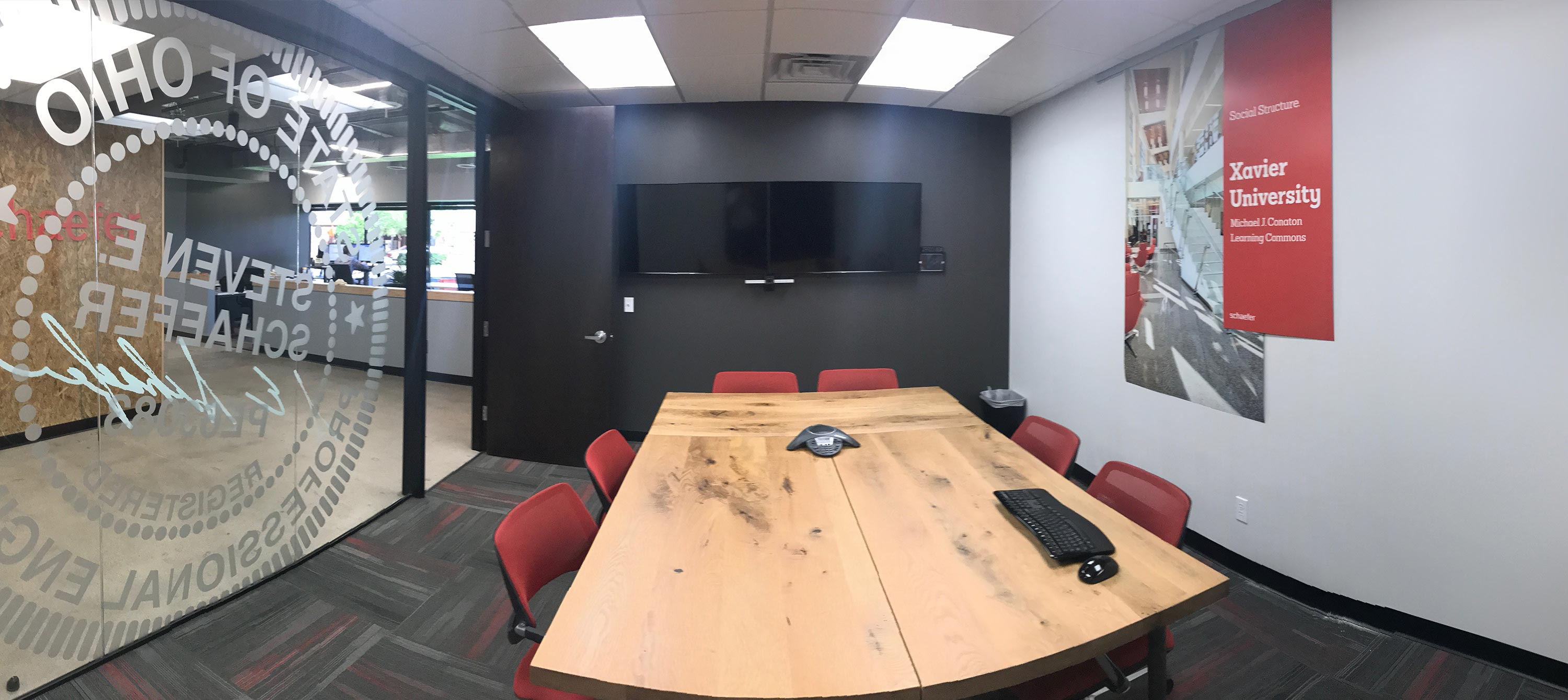View of the full conference room in Schaefer's Phoenix office.
