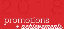 Staff Spotlight: 2018 Promotions + Achievements