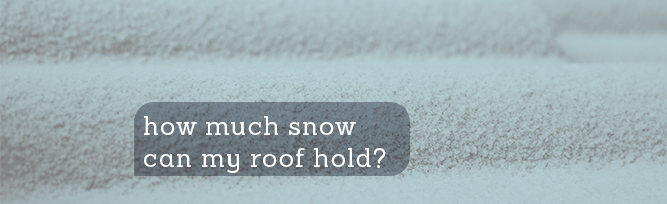 How Much Snow Can My Roof Hold?