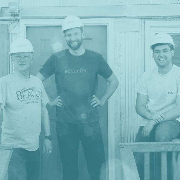 Schaefer Volunteers Renovate Rabbit House at Gorman Heritage Farm