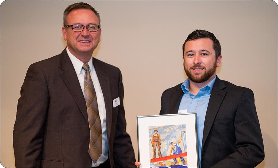 Geoff Ryan accepts the 2018 ACI Rising Star Award