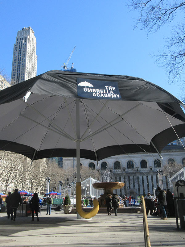 Umbrella Academy Temporary Structure Bryant Park New York City New York