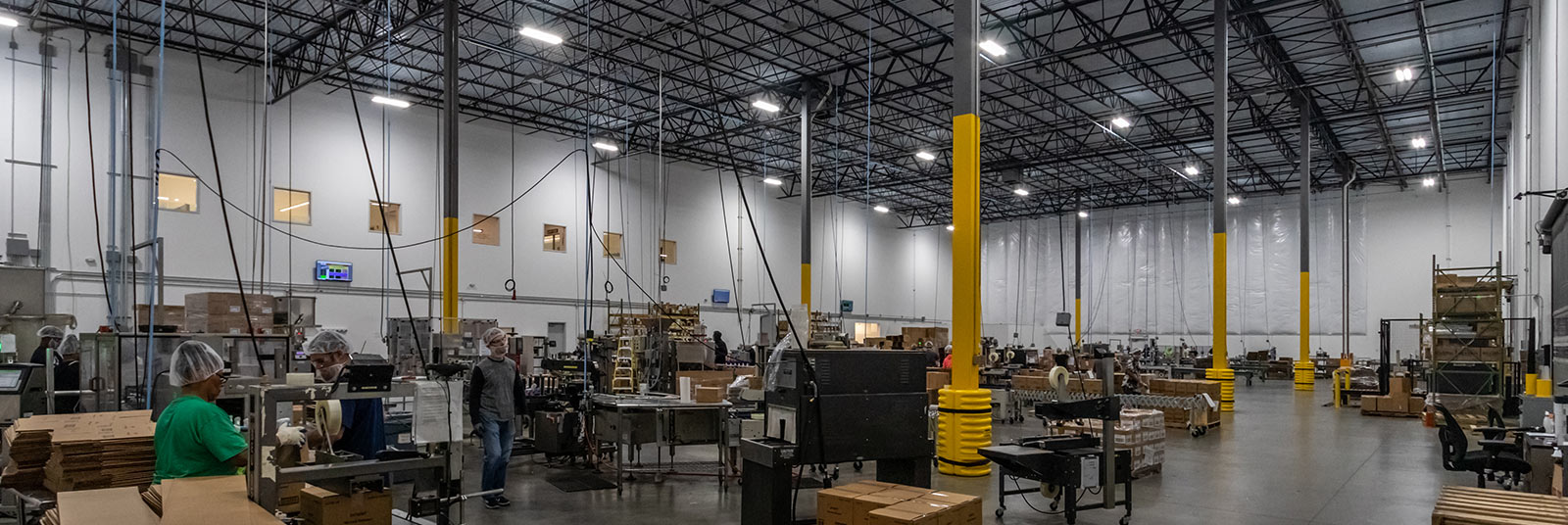 Processing and packaging facility inside the Nehemiah Manufacturing facility in Cincinnati, Ohio.