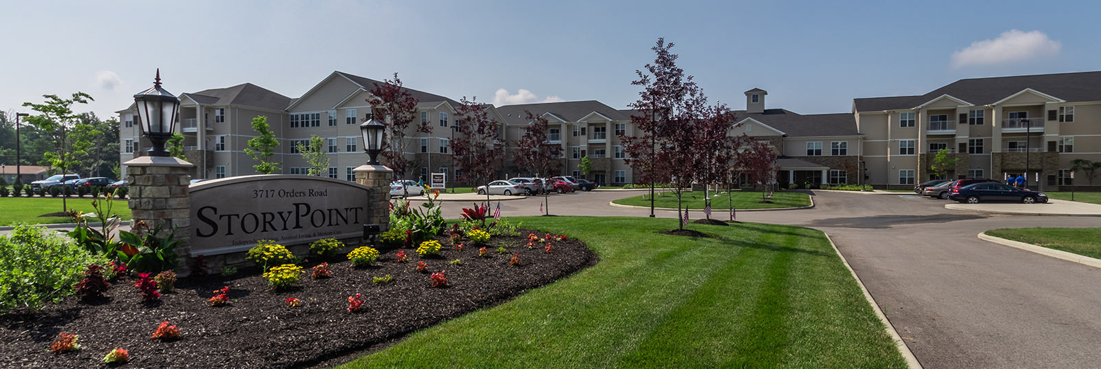 The large StoryPoint senior living community in Grove City, Ohio