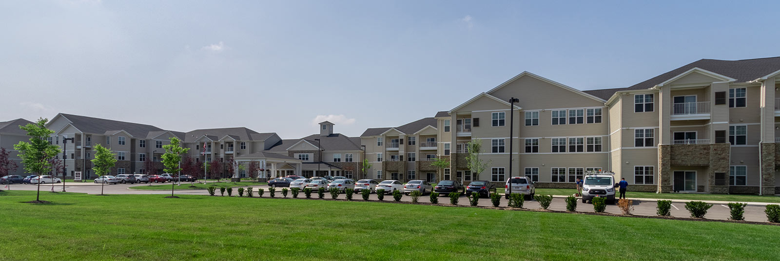 The expansive StoryPoint senior living community campus in Grove City, Ohio