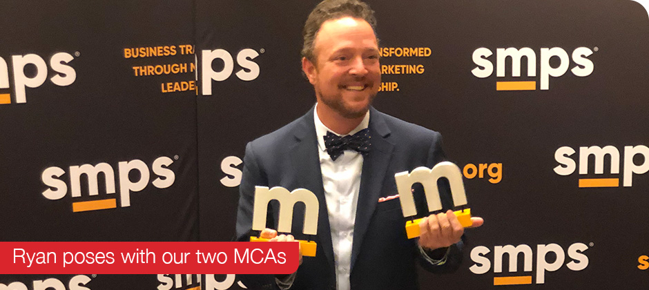 Ryan Konst holds Schaefer's two MCAs at 2019 Build Business