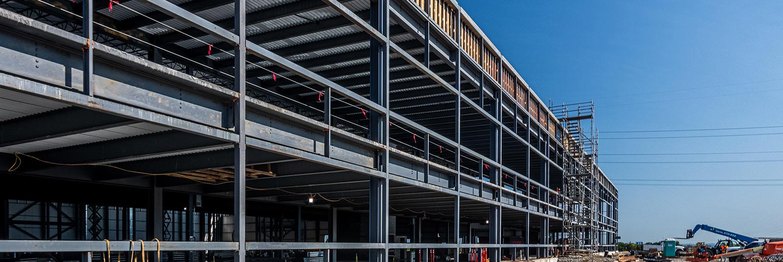 Progress on the FESTO industrial facility expansion in Mason, Ohio.