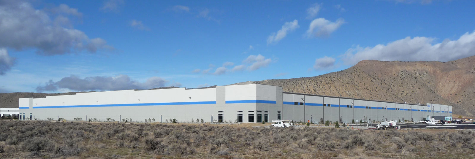 View of the large SanMar distribution center in Spanish Springs, Nevada.
