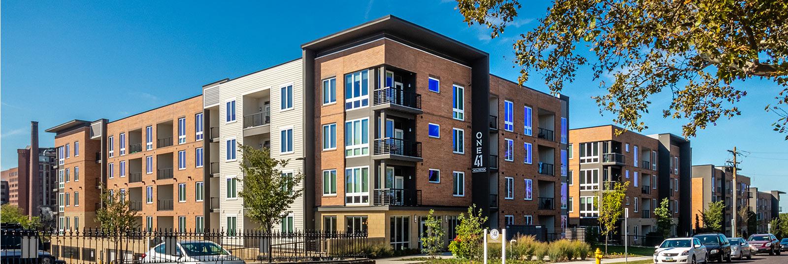 The One41 Wellington apartment complex in Cincinnati, Ohio.