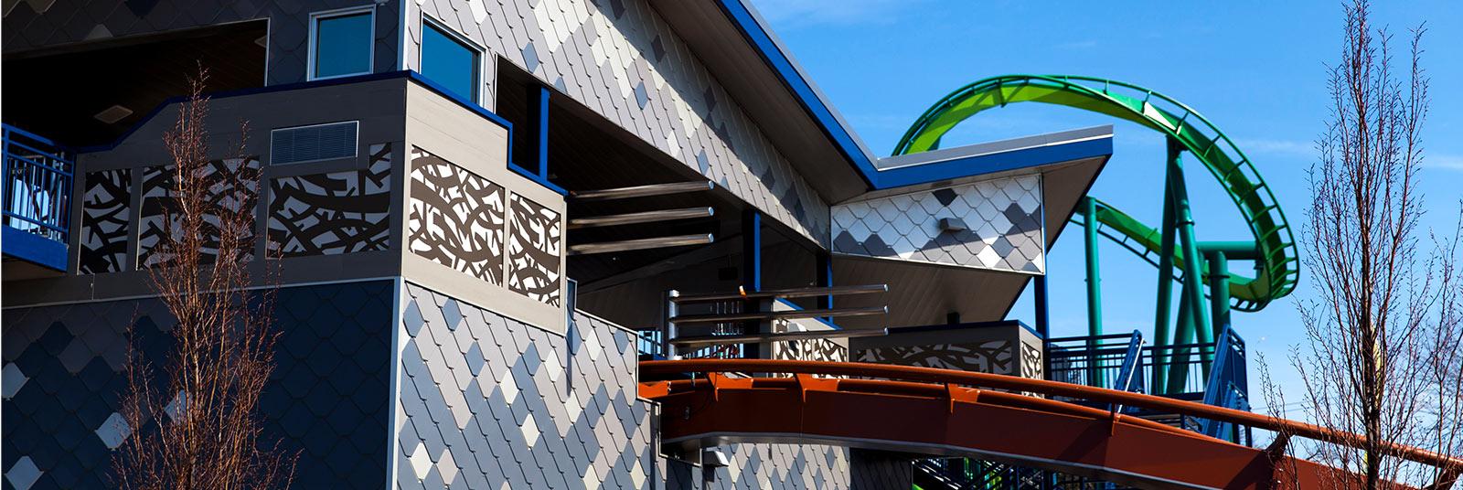 Cedar Point Valravn Coaster Station Sandusky Ohio Theme Park