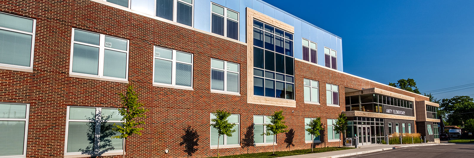 Exterior of Amity Elementary in Deer Park, Ohio.
