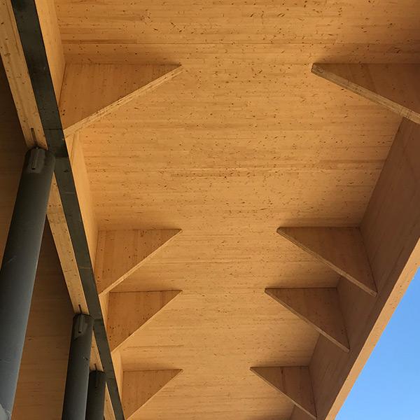 CLT and glulam mass timber addition at Salvagnini in Hamilton, Ohio