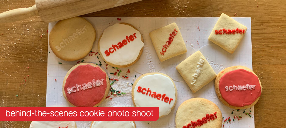 Behind the scenes from our cookie photo shoot.