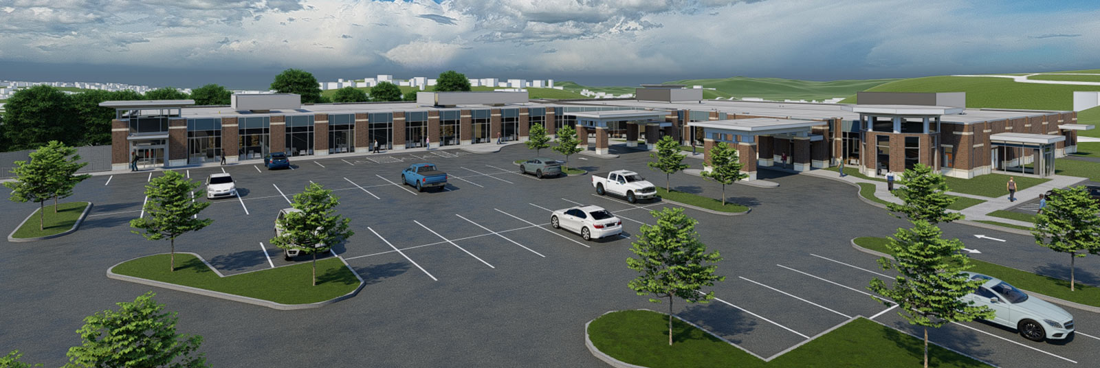 St. Elizabeth Fort Thomas medical office building renderings showing aerial view of the completed facility.