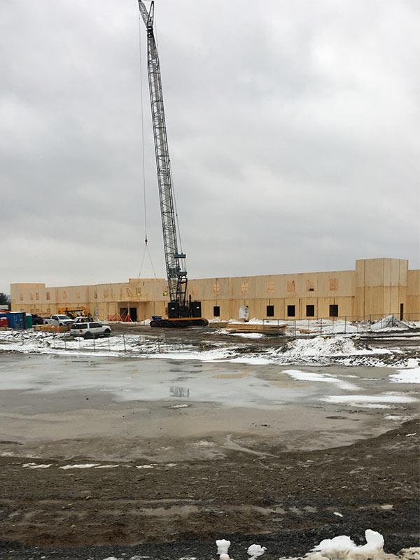 Construction progress at Ft. Drum.