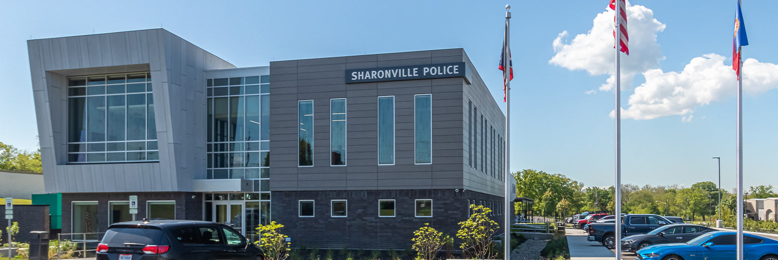 Exterior of the Sharonville Police Department.