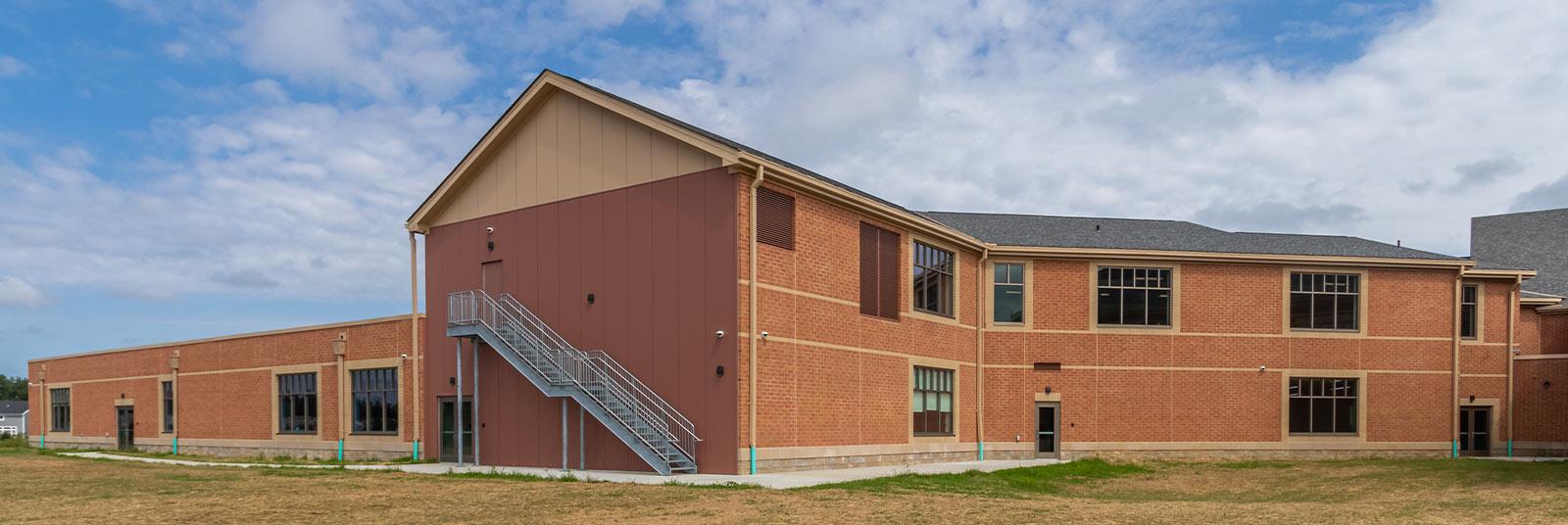Back of the addition to Little Miami Intermediate School in Maineville, Ohio