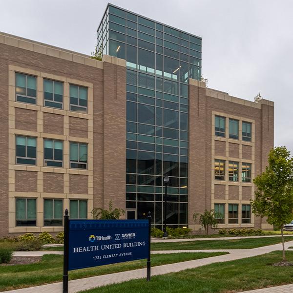 Health United Building at Xavier University