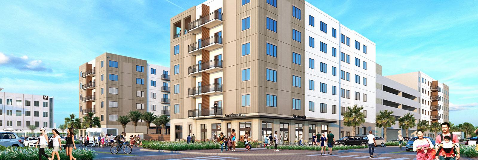 Rendering of the Luna ApartmentsRendering of the Luna Apartments