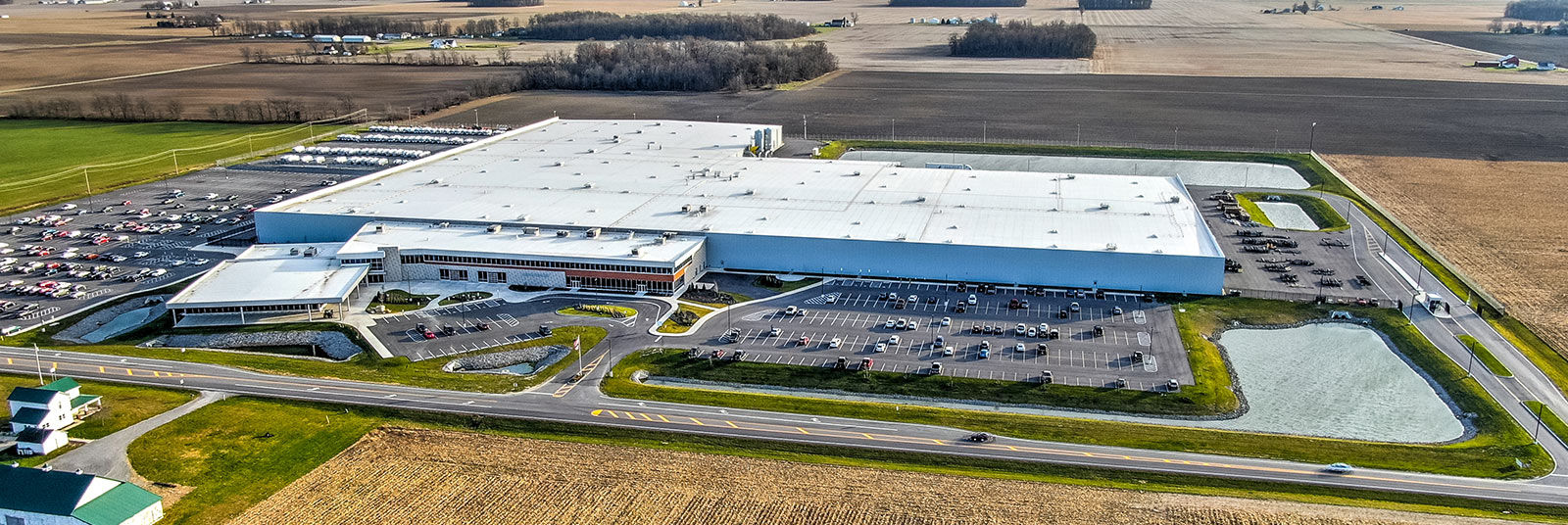 The Airstream headquarters and manufacturing facility in Jackson Center, Ohio.