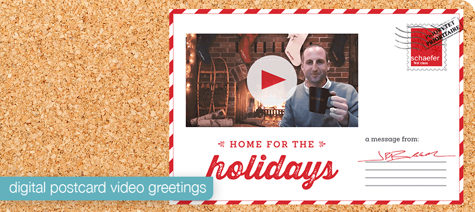 Digital postcard video greeting from our 2020 holiday campaign