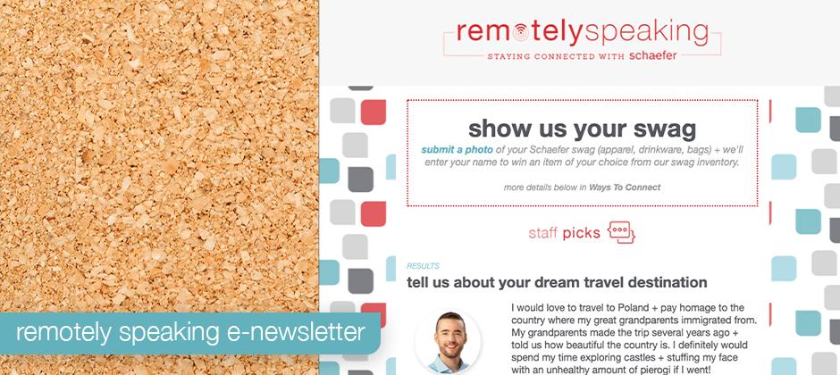 Sample of our Remotely Speaking e-newsletter