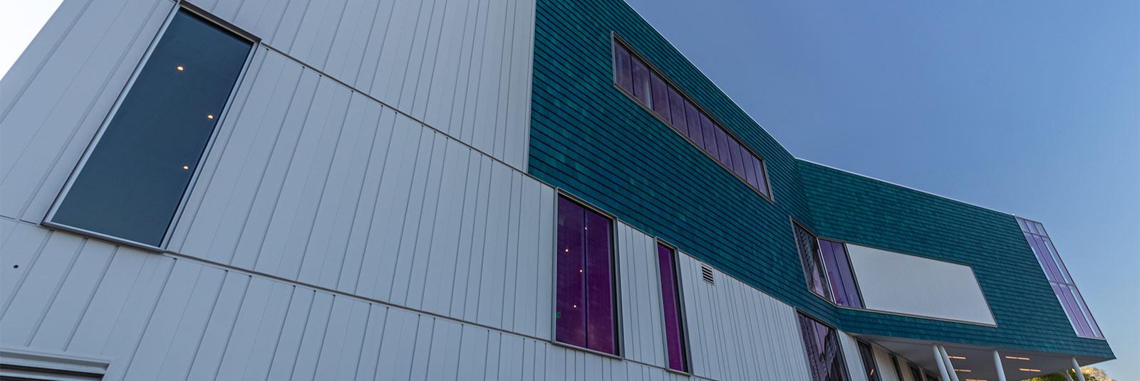 The back facade of the new Cincinnati Ballet facility.